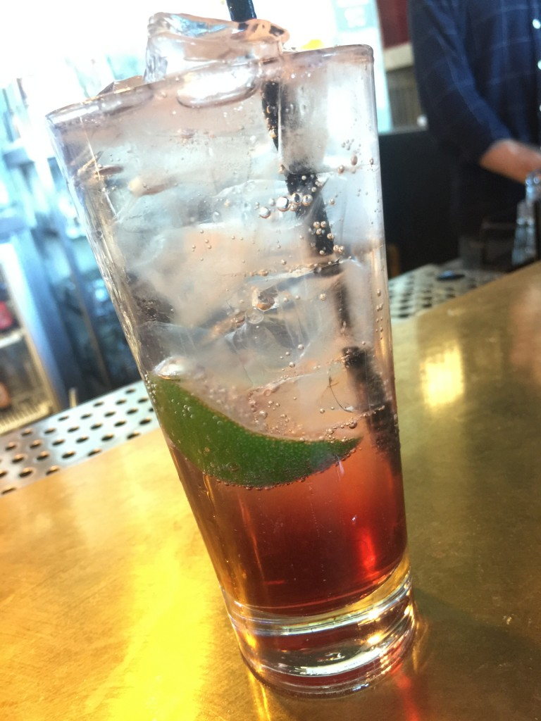 Chambord, lime & soda