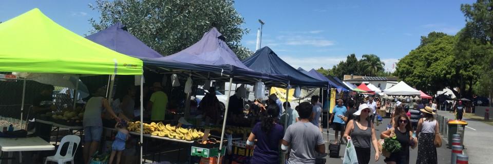 The start of the market walk
